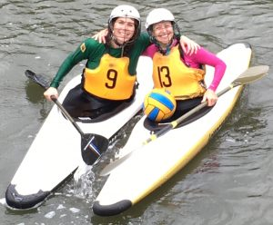 NYKP members Olly and Laura on the 2016 US World Championships Kayak Polo Team
